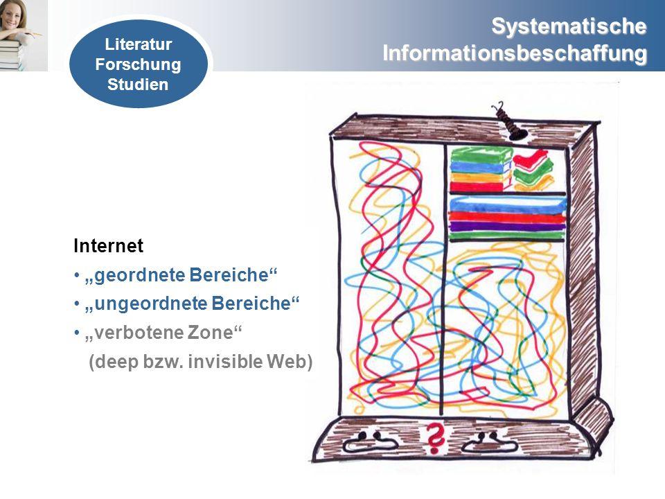 """""""ungeordnete Bereiche """"verbotene Zone (deep bzw. invisible Web)"""