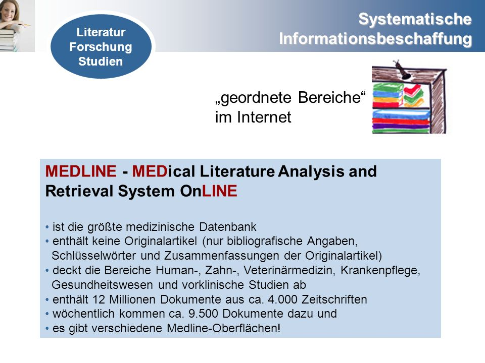 MEDLINE - MEDical Literature Analysis and Retrieval System OnLINE
