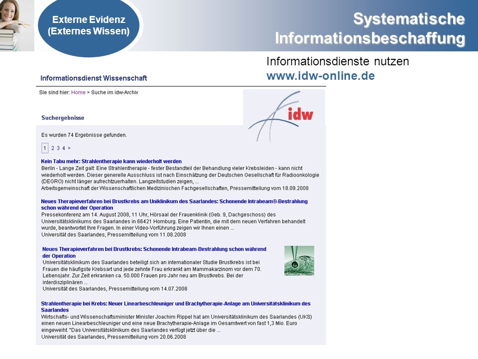 Informationsdienste nutzen www.idw-online.de