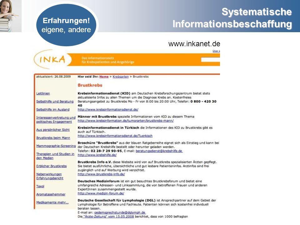 Erfahrungen! eigene, andere www.inkanet.de