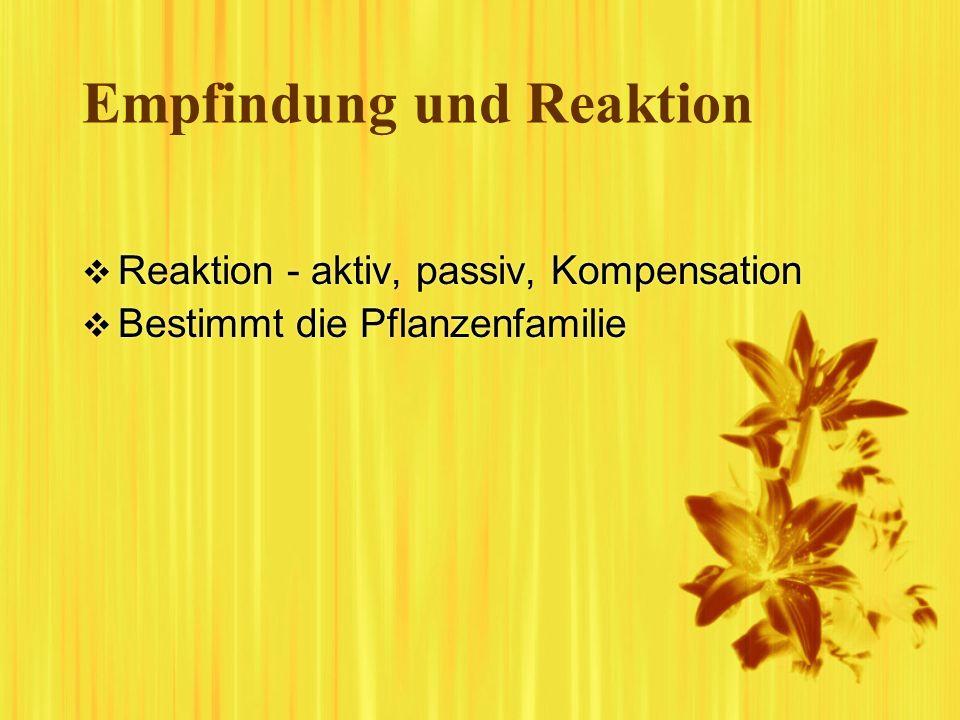 Empfindung und Reaktion