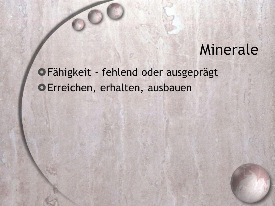 Minerale Fähigkeit - fehlend oder ausgeprägt