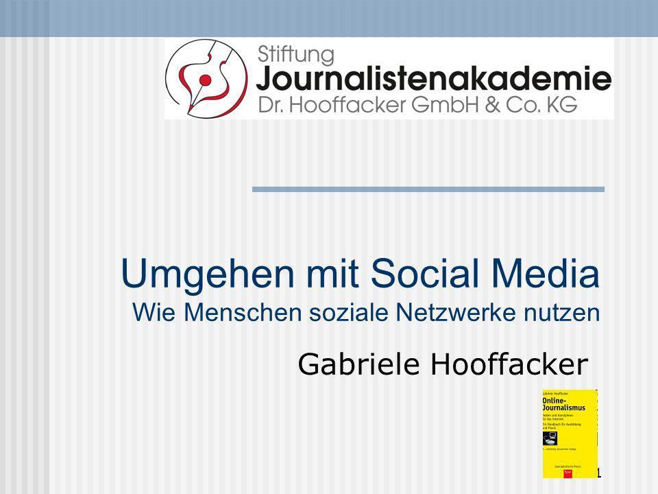 Umgehen mit Social Media Wie Menschen soziale Netzwerke nutzen
