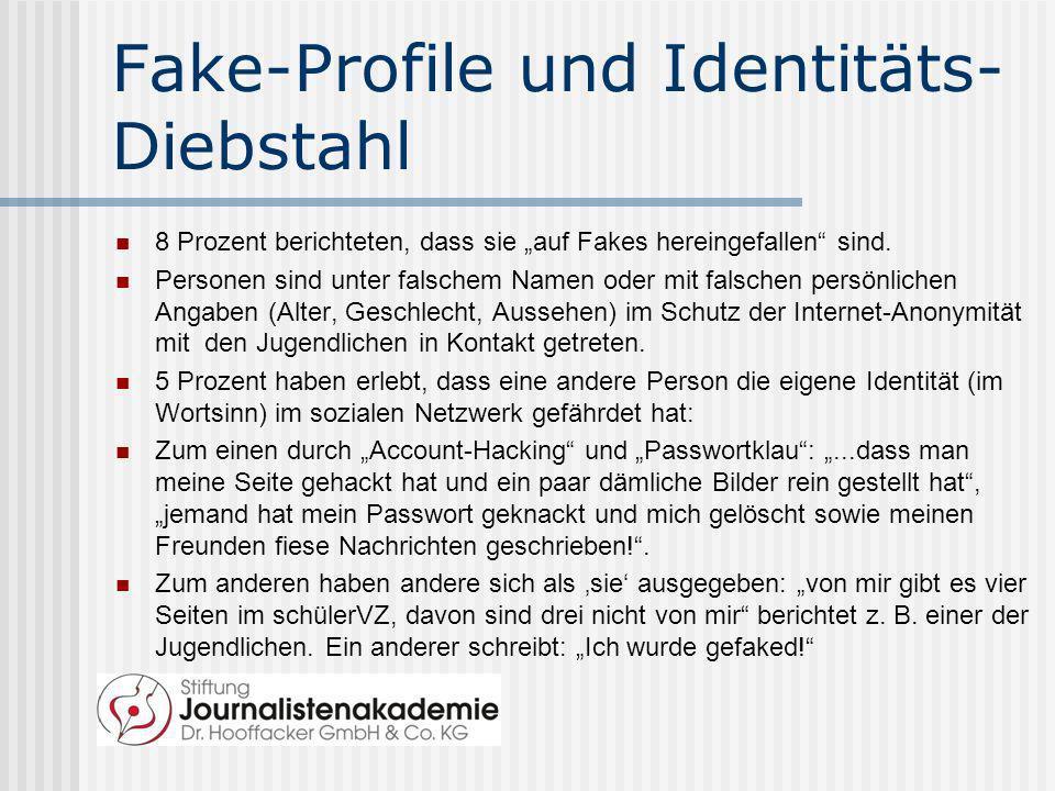 Fake-Profile und Identitäts-Diebstahl