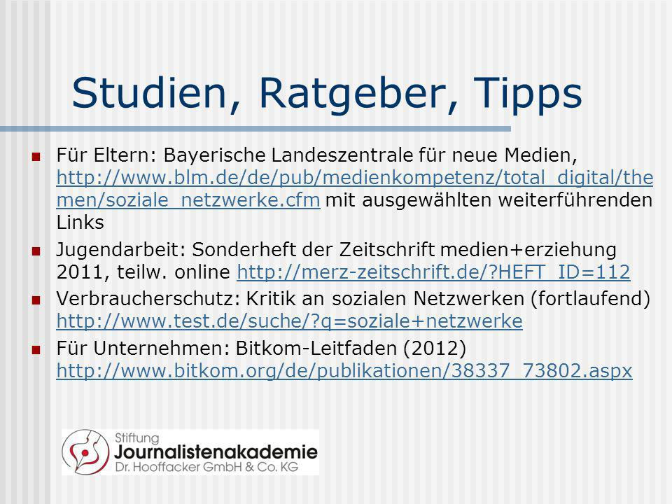 Studien, Ratgeber, Tipps