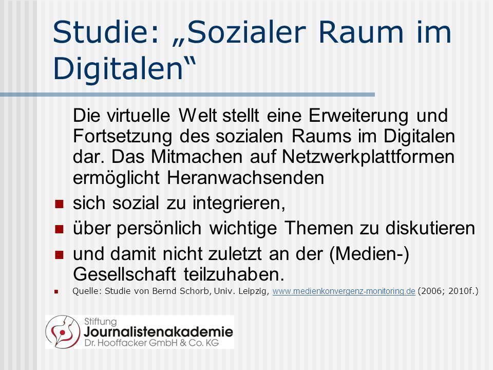 "Studie: ""Sozialer Raum im Digitalen"