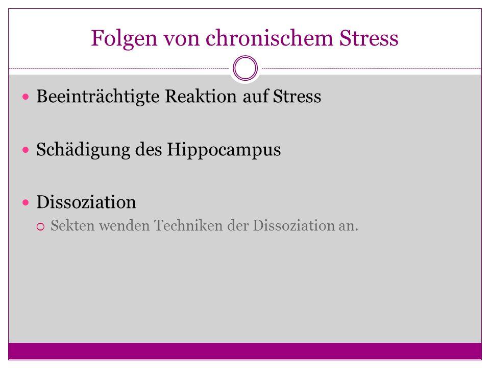 Folgen von chronischem Stress
