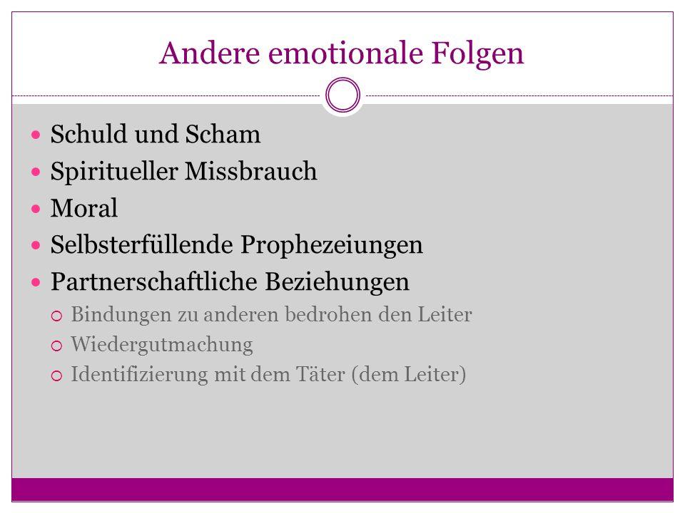 Andere emotionale Folgen