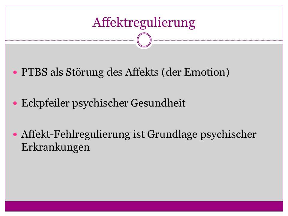 Affektregulierung PTBS als Störung des Affekts (der Emotion)