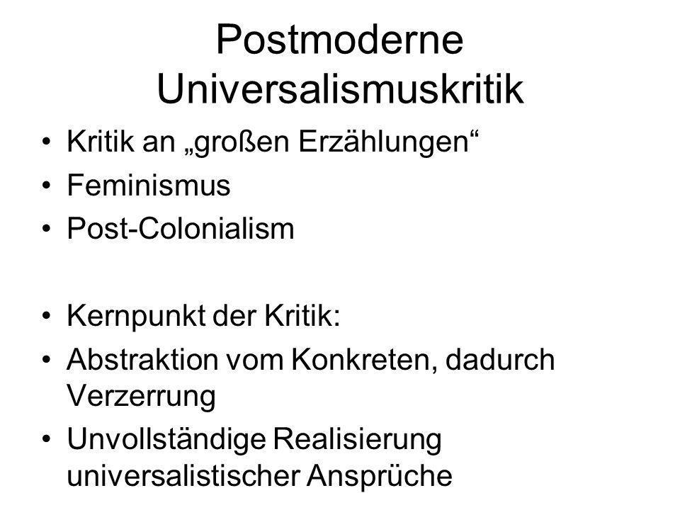 Postmoderne Universalismuskritik
