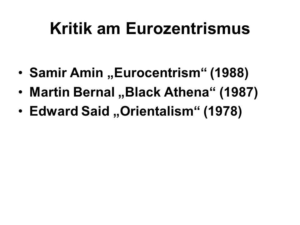 Kritik am Eurozentrismus