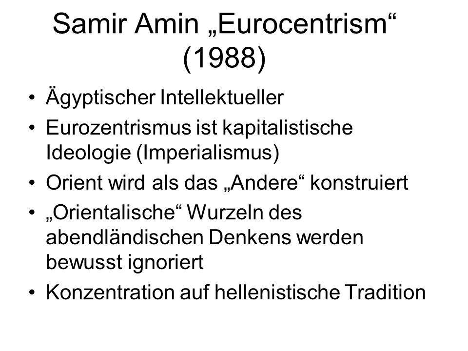 "Samir Amin ""Eurocentrism (1988)"