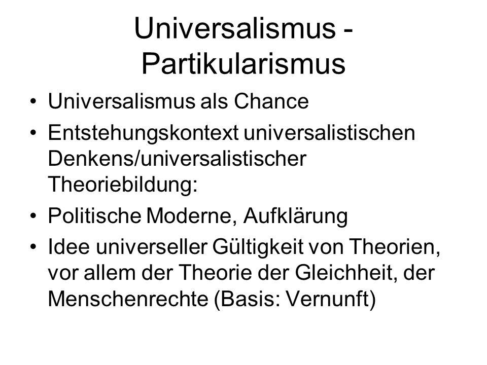 Universalismus - Partikularismus