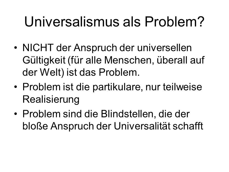 Universalismus als Problem