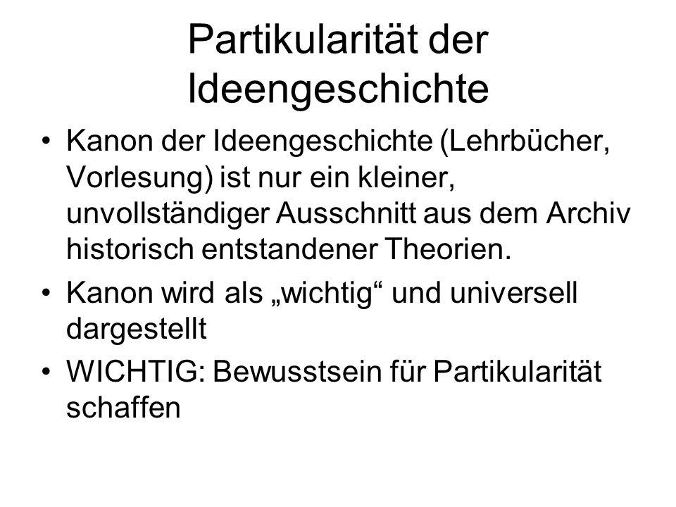 Partikularität der Ideengeschichte