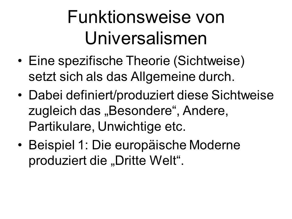 Funktionsweise von Universalismen