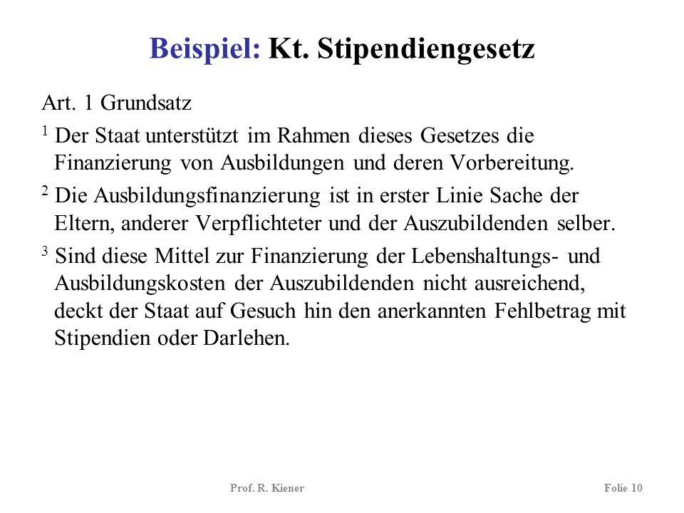 Beispiel: Kt. Stipendiengesetz