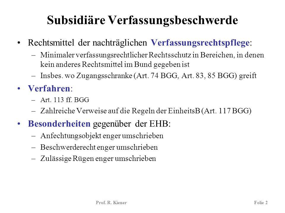 Subsidiäre Verfassungsbeschwerde