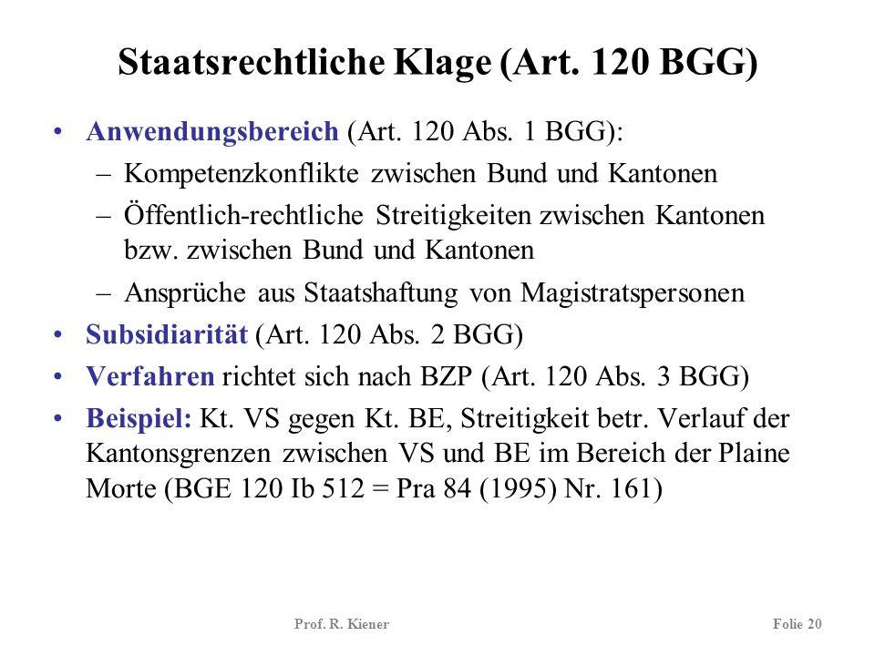 Staatsrechtliche Klage (Art. 120 BGG)