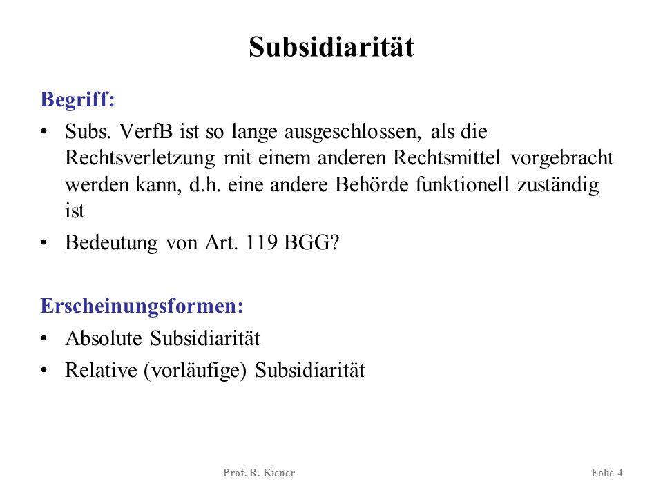 Subsidiarität Begriff: