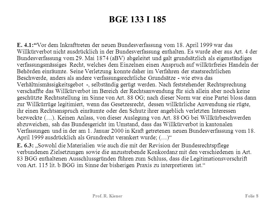 BGE 133 I 185