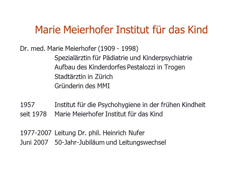 Marie Meierhofer Institut für das Kind