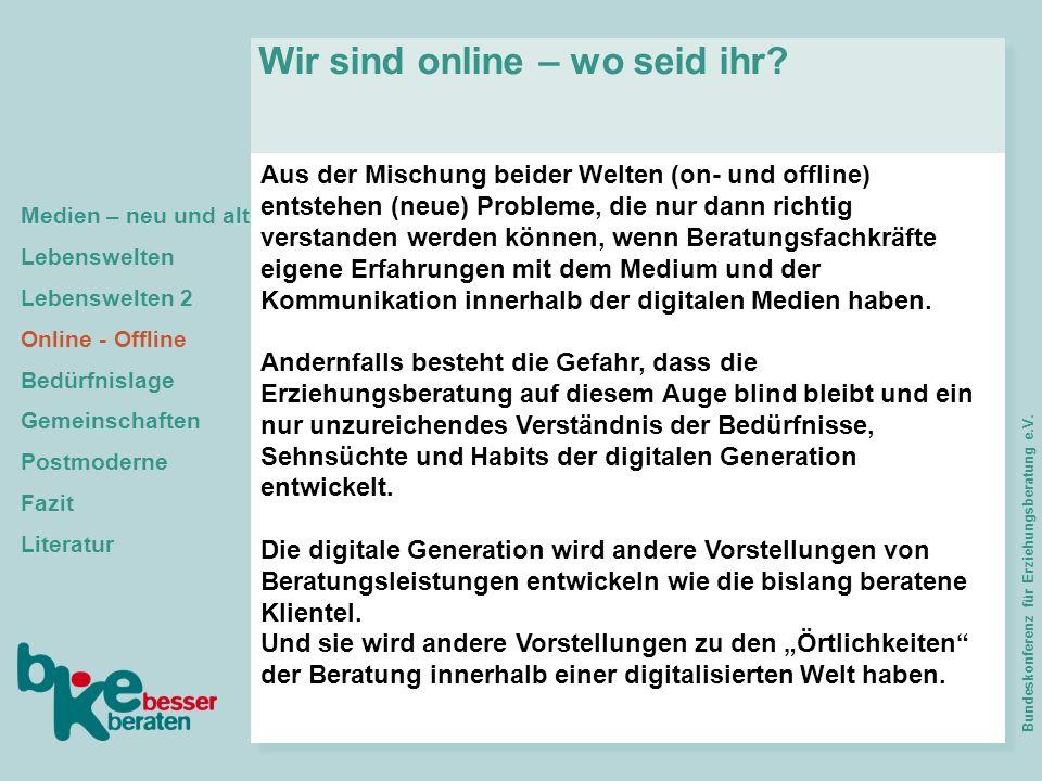 Wir sind online – wo seid ihr