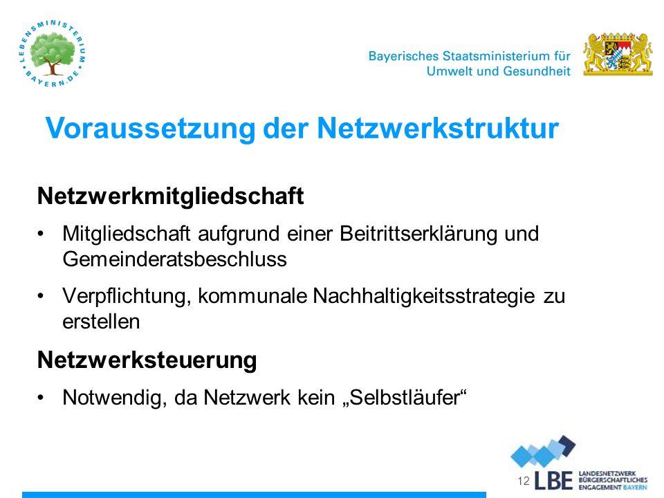 Voraussetzung der Netzwerkstruktur