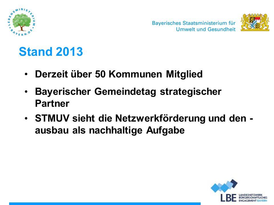 Stand 2013 Derzeit über 50 Kommunen Mitglied