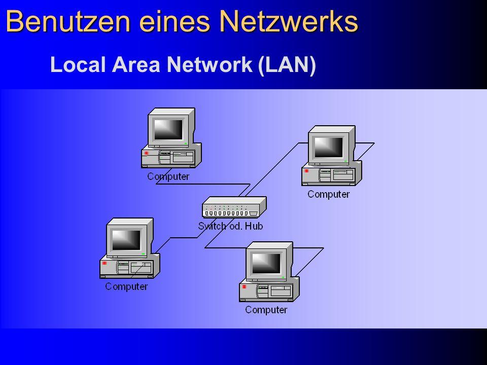 Benutzen eines Netzwerks
