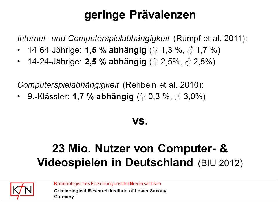 23 Mio. Nutzer von Computer- & Videospielen in Deutschland (BIU 2012)