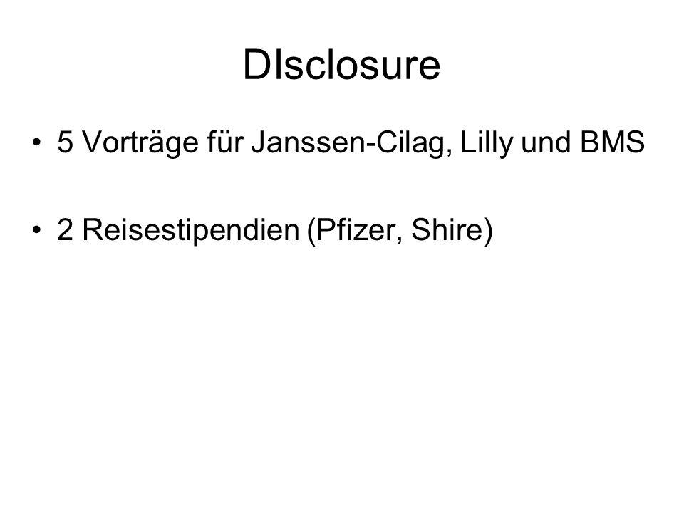 DIsclosure 5 Vorträge für Janssen-Cilag, Lilly und BMS