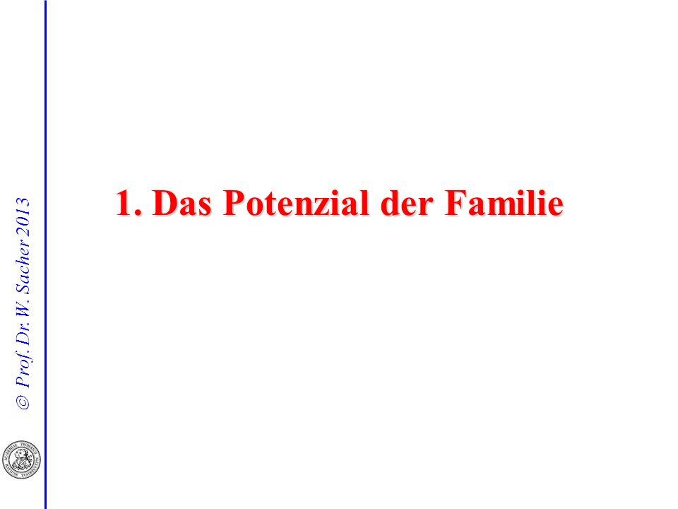 1. Das Potenzial der Familie