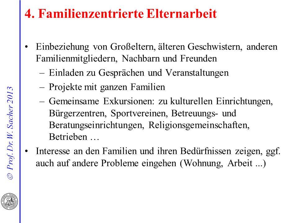 4. Familienzentrierte Elternarbeit