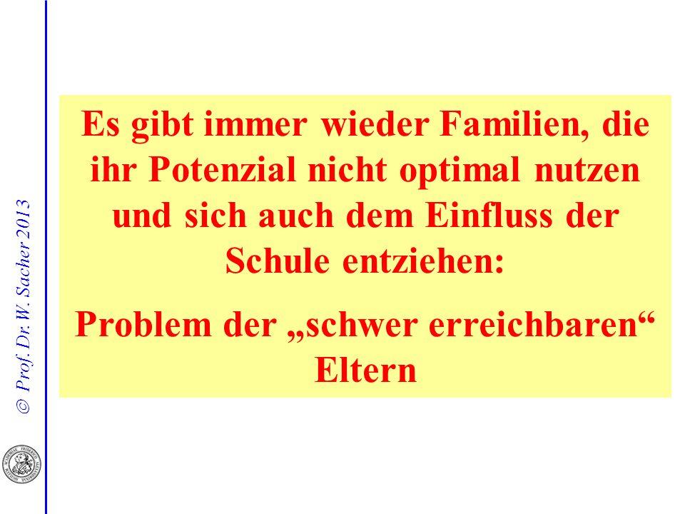 """Problem der """"schwer erreichbaren Eltern"""