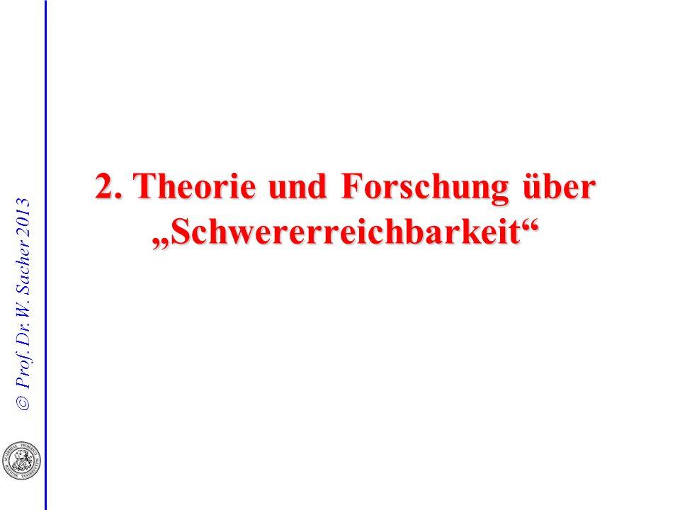 """2. Theorie und Forschung über """"Schwererreichbarkeit"""