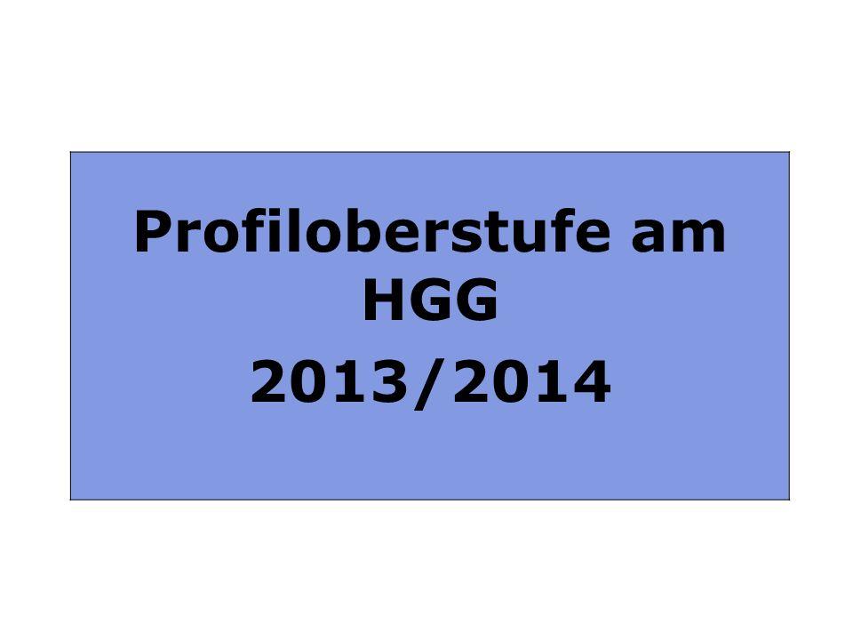 Profiloberstufe am HGG 2013 / 2014