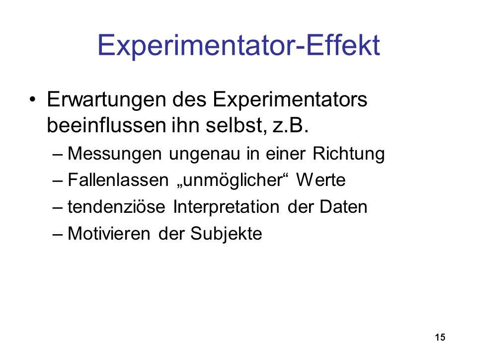 Experimentator-Effekt