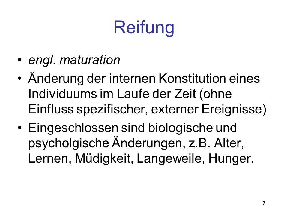 Reifung engl. maturation