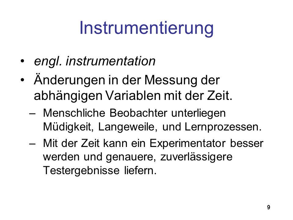 Instrumentierung engl. instrumentation
