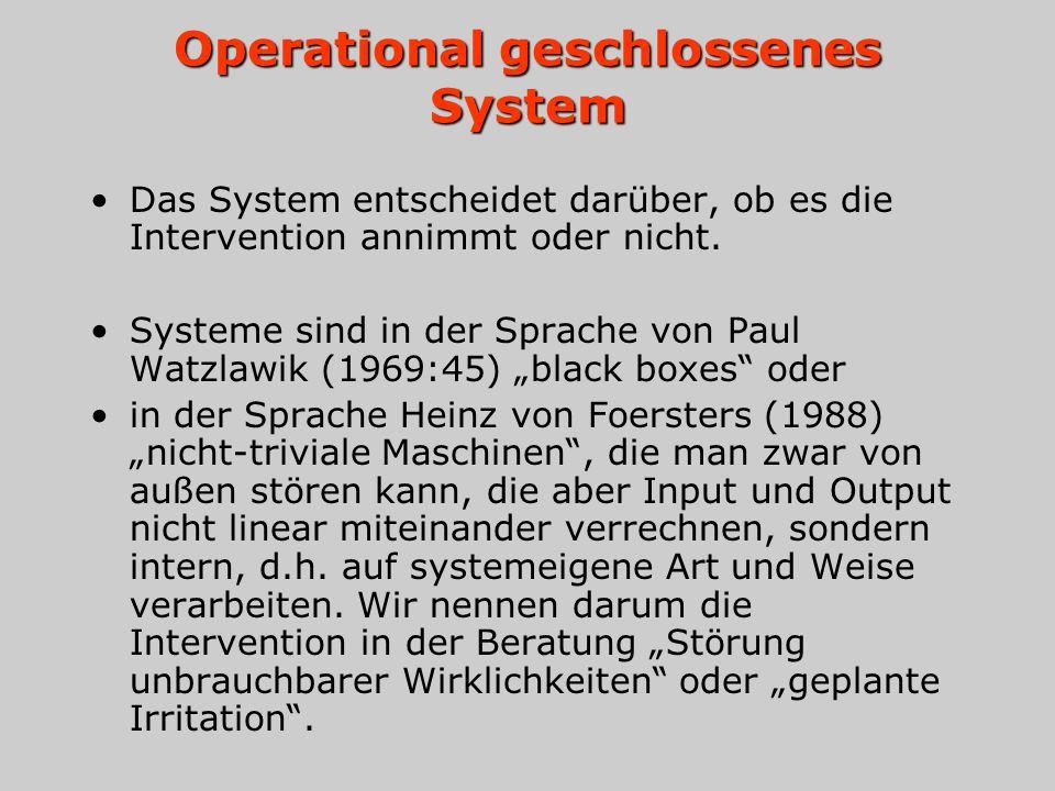 Operational geschlossenes System