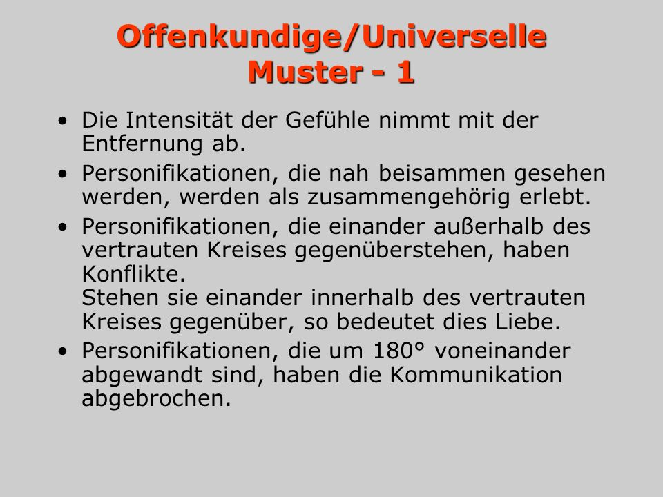 Offenkundige/Universelle Muster - 1