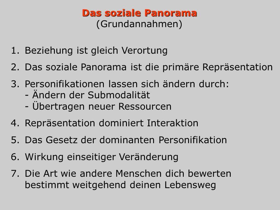 Das soziale Panorama (Grundannahmen)
