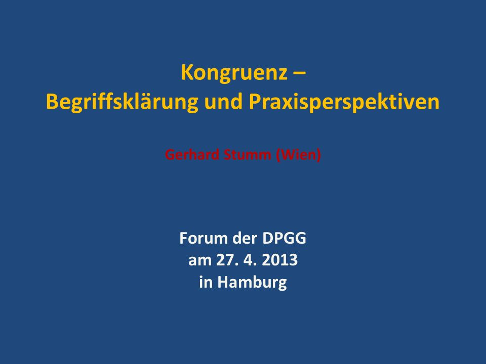 Forum der DPGG am 27. 4. 2013 in Hamburg