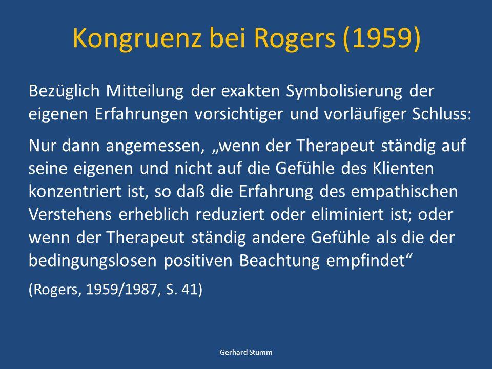 Kongruenz bei Rogers (1959)