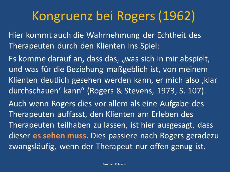 Kongruenz bei Rogers (1962)