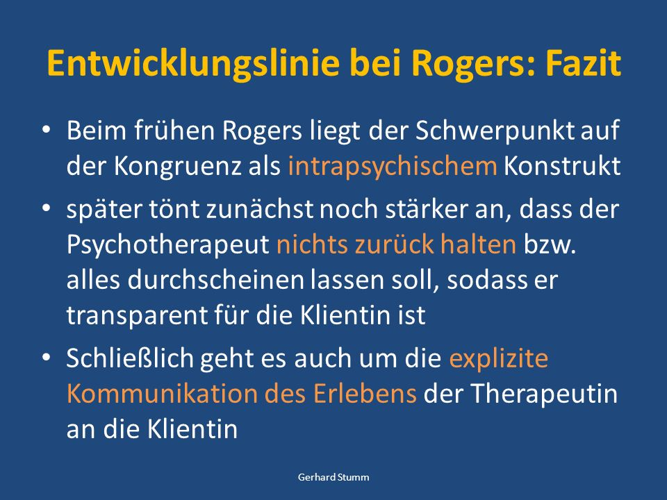 Entwicklungslinie bei Rogers: Fazit