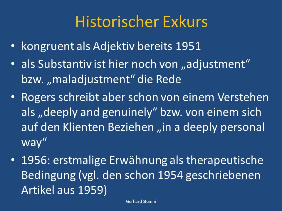 Historischer Exkurs kongruent als Adjektiv bereits 1951