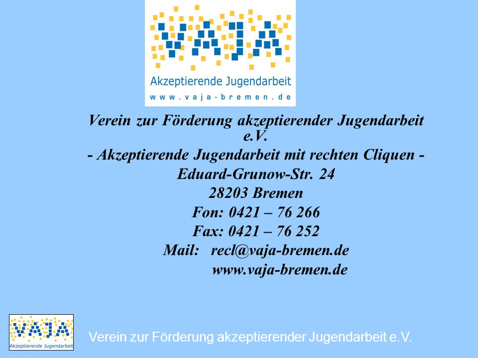 Verein zur Förderung akzeptierender Jugendarbeit e.V.