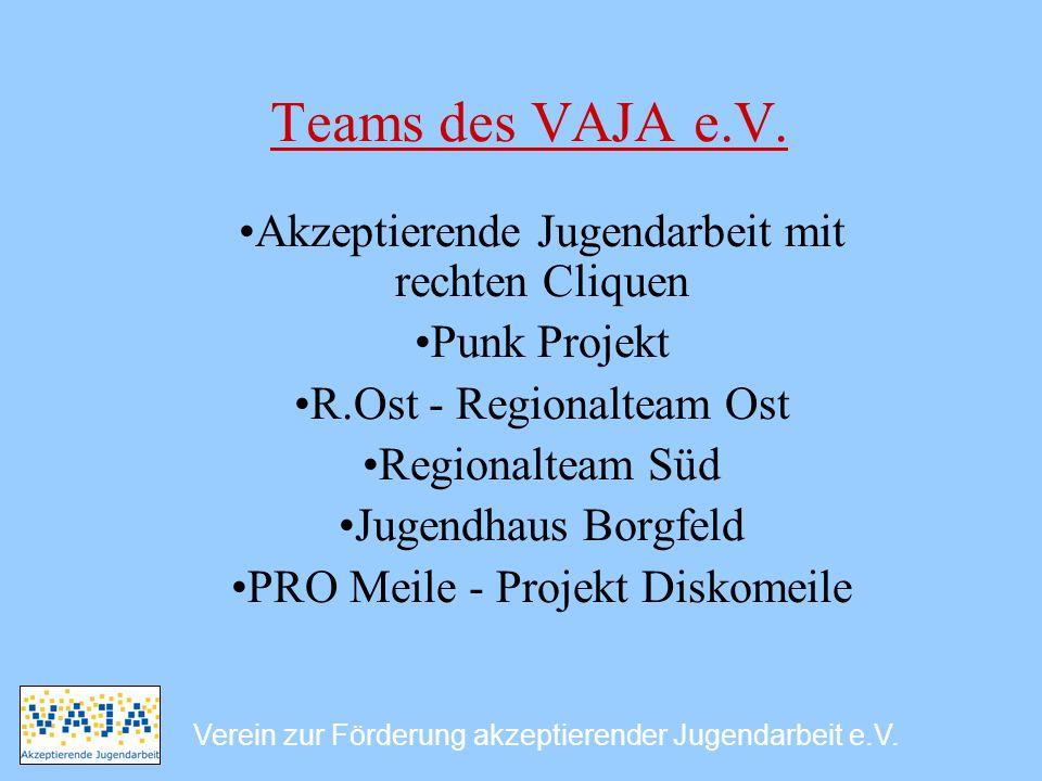 Teams des VAJA e.V. Akzeptierende Jugendarbeit mit rechten Cliquen